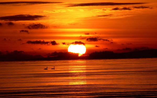 عکسهایی بسیار زیبا از غروب خورشید