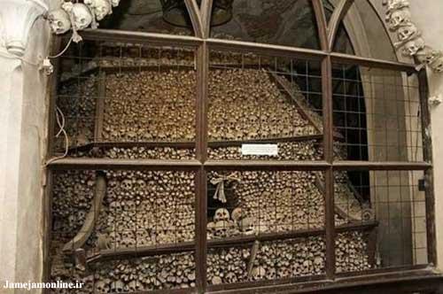 عکسهایی از کلیسای ساخته شده از استخوان