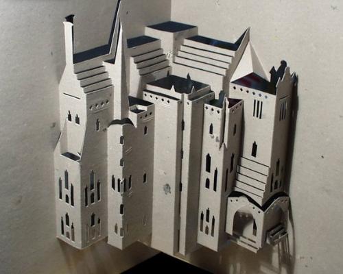 عکس های شگفت انگیز مجسمه های کاغذی