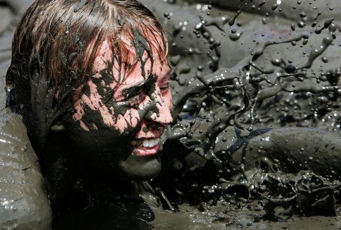 عکسهای مسابقات شنا در لجن (استرالیا)
