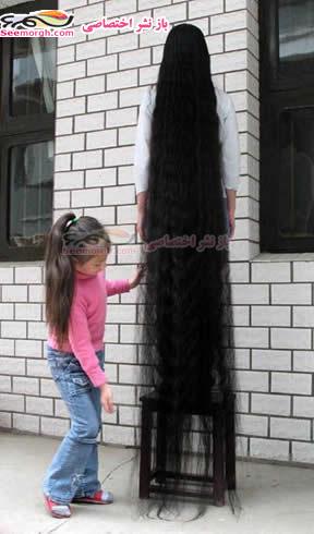 زنی که رکوردی جالب دارد: زنی با 6متر مو!!