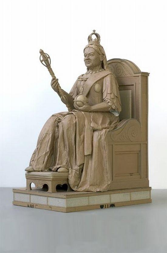 مجسمه هایی جالب ساخته شده از مقوا