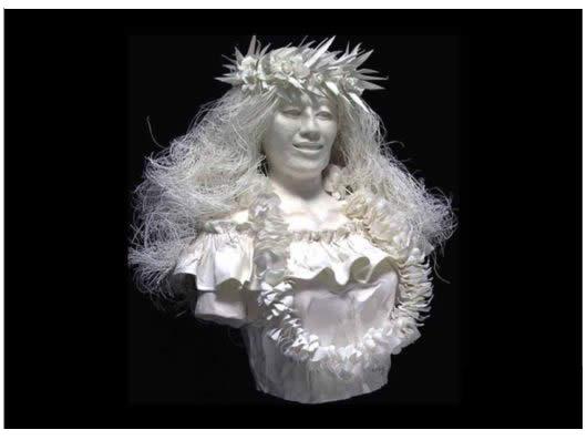 عکسهای مجسمههای ساخته شده از کاغذ