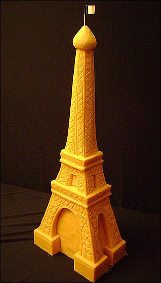 عکسهای مجسمه های ساخته شده از پنیر