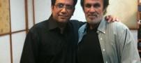 رضارشیدپور در کنار خواننده لس آنجلسی