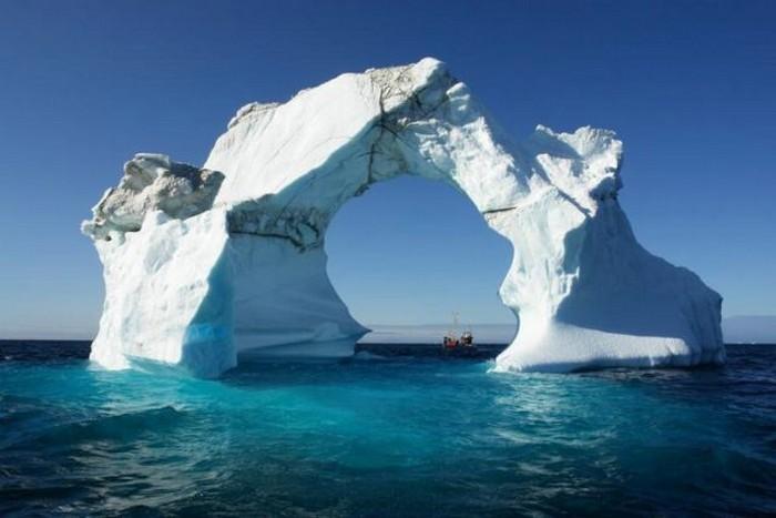 عکسهای یخ های قطبی شناور در آب