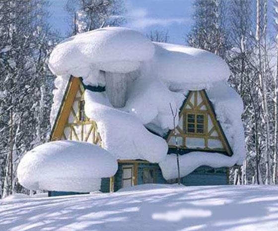 عکسهایی از بارش باور نکردنی برف در روسیه