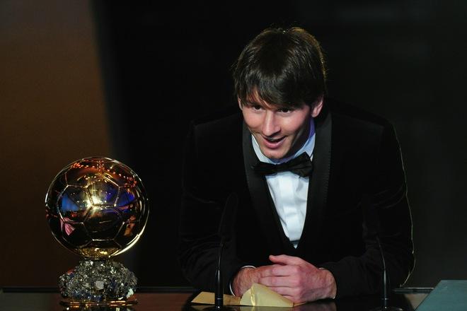 لیونل مسی برنده توپ طلای فوتبال در سال 2010
