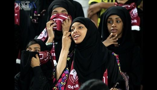 عکس های زنان حاضر در جام ملت های قطر