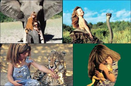 دختری که از کودکی با حیوانات وحشی بزرگ شده!