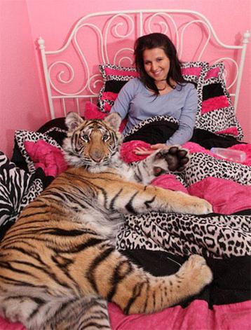 شش ماه زندگی یک دختر با ببر | www.irannaz.com
