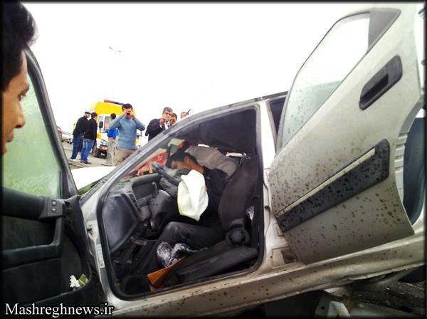 تعقیب و گریز مرگبار با 180 تا سرعت در اتوبان قم (+عکس)