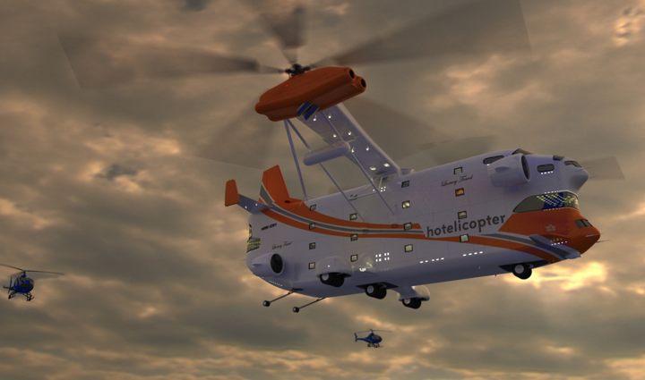 عکس هایی دیدنی از هتل هلیکوپتر Hotelicopter