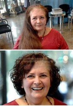 زن ۵۹ ساله بعد از ۴۵ سال به آرایشگاه رفت !!