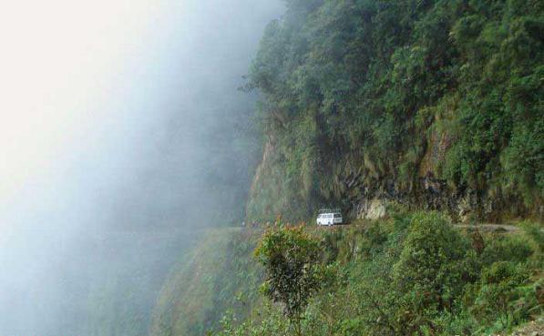 عکس هایی بسیار دیدنی خطرناک ترین جاده جهان
