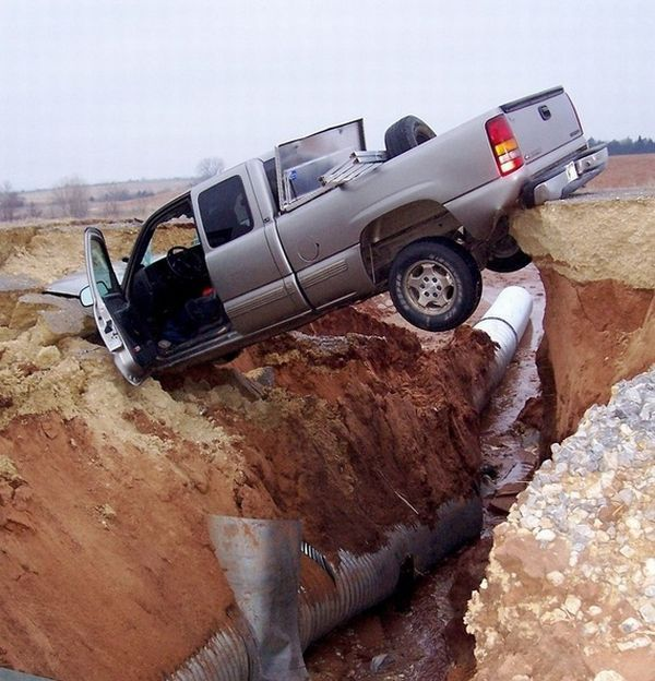عکس هایی دیدنی از خنده دار ترین تصادف ها