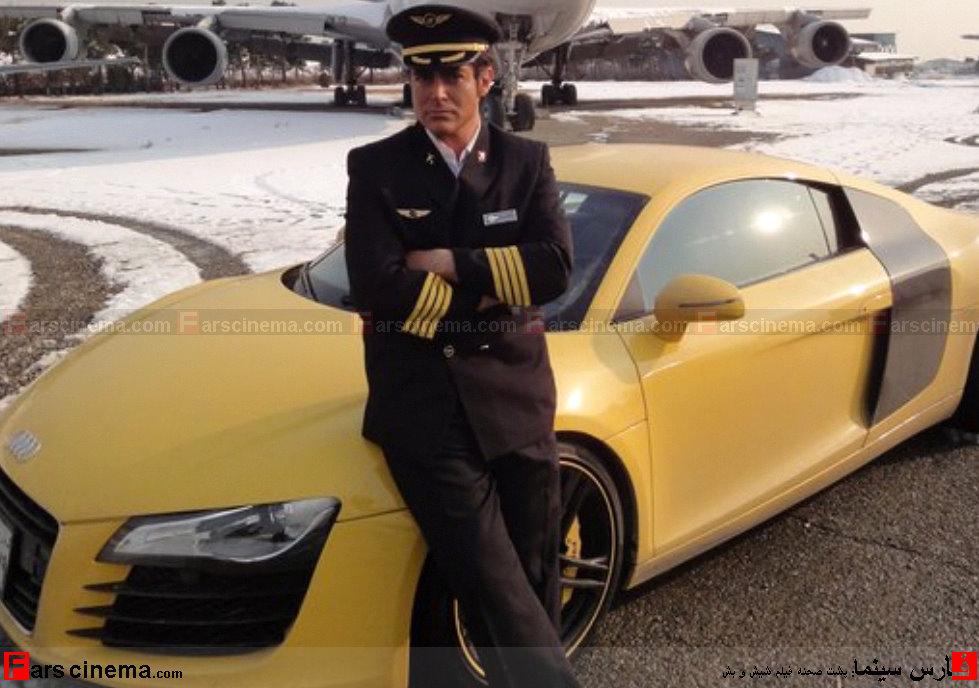 محمد رضا گلزار در كنار ماشین گران قیمتش !!