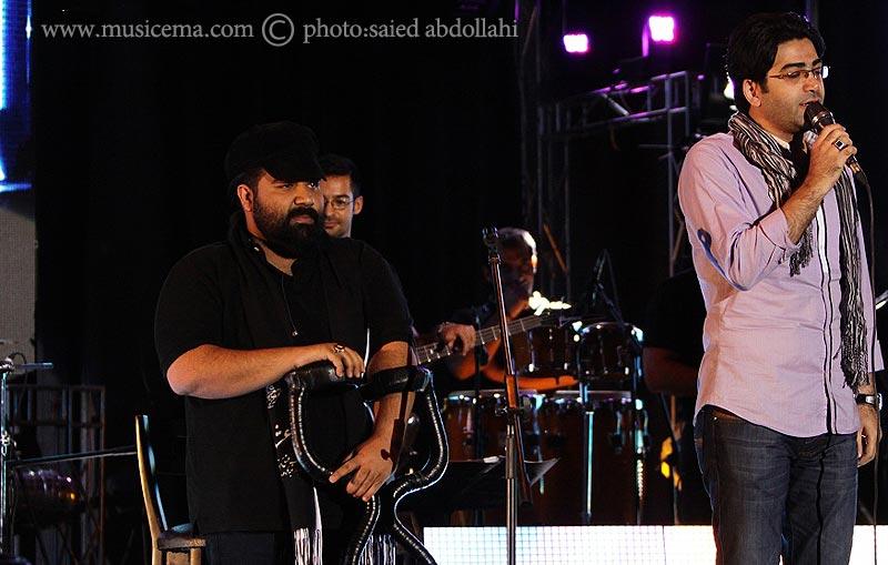عکس های کنسرت رضا صادقی با حضور فرزاد حسنی