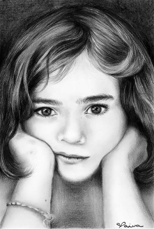 نقاشی های بسیار زیبا با مداد از کودکان