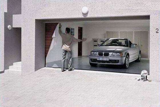 طراحی های بسیار جالب برای درب پارکینگ ها