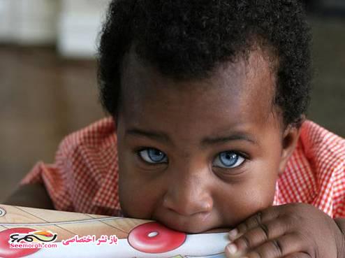 عکس های پسر بچهای با چشمانی جادویی