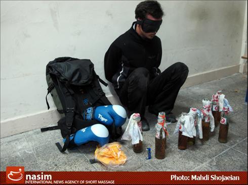 دستگیری فردی به همراه 10 کوکتلمولوتوف (تصویری)