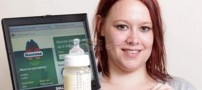 زنی که شیرش را بصورت آنلاین میفروشد (+عکس)