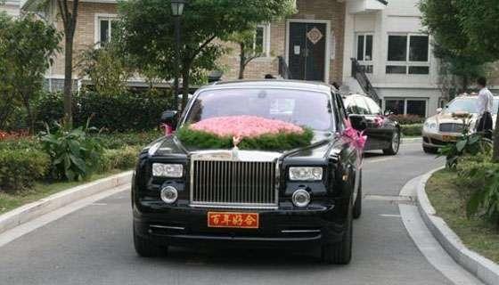 عکس های از یک عروسی مجلل با ماشین فراری