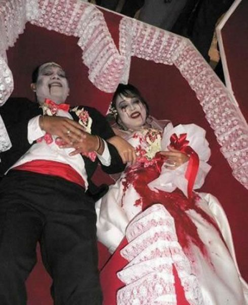 عکس هایی دیدنی از عجیب ترین عروسی های دنیا