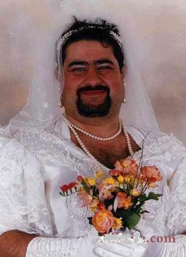 عکس هایی خنده دار از وقتی آقایان عروس شوند