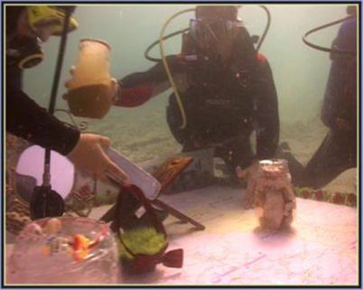سفره هفت سین زیر آبهای خلیج فارس (تصویری)