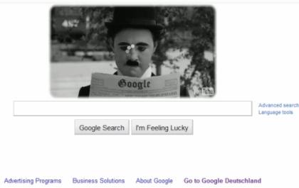 ادای احترام سایت گوگل به چارلی چاپلین+عکس