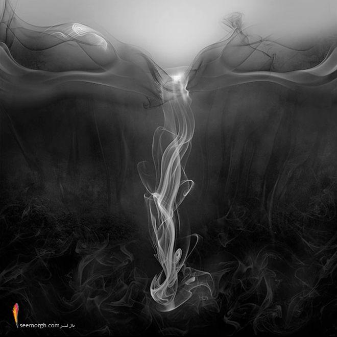 تصاویری از هنرنمایی بسیار زیبا و دیدنی با دود