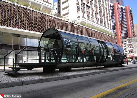 درازترین اتوبوس دنیا و حرکت با سوخت سویا+عکس