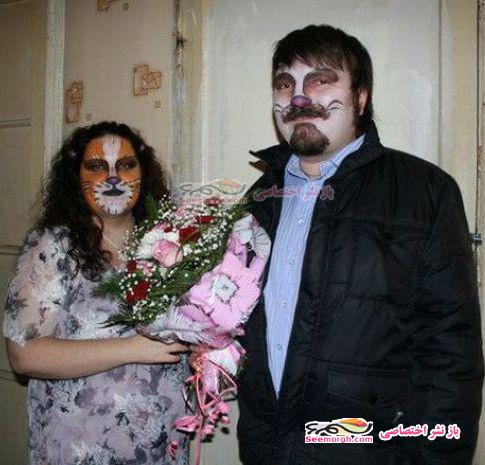 عکس های مراسم عروسی با عروس و داماد گربه ای