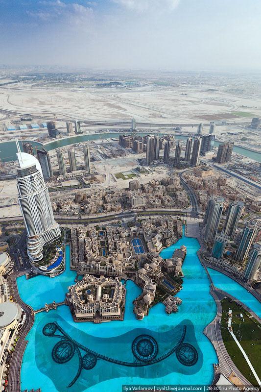 تصاویری زیبا و دیدنی از روی بلندترین برج دنیا