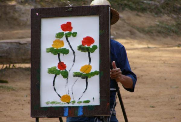 هنر باور نکردنی و خارق العاده یک فیل+تصاویر