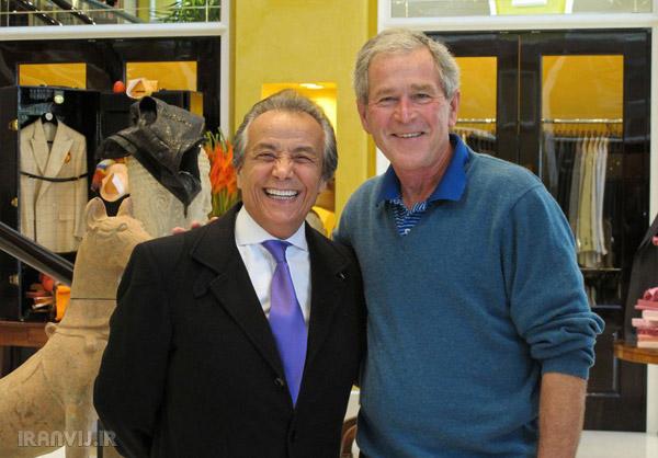 تصاویری از خرید جورج بوش از بوتیک مرحوم بیژن پاکزاد