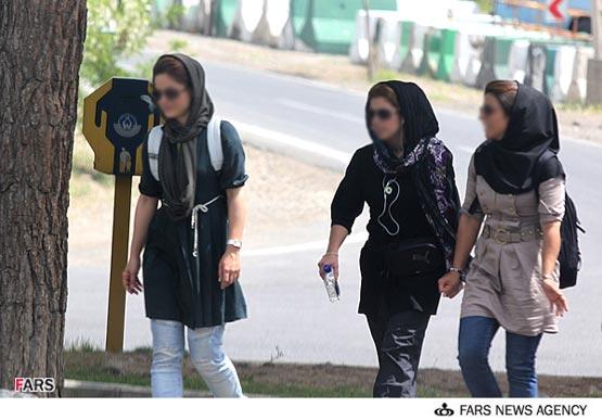 نمایشگاه مد و آرایش در خیابانهای تهران (تصویری)