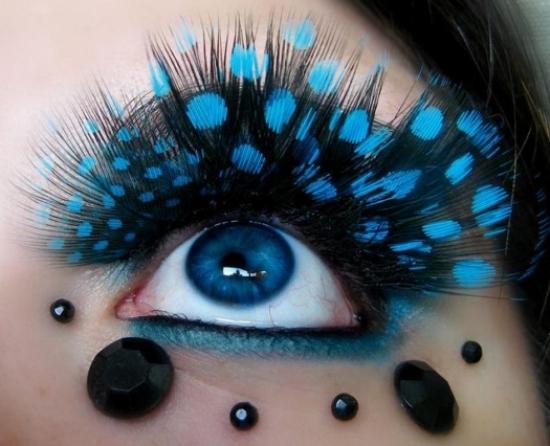 جدید ترین مدل های آرایش چشم بصورت فانتزی
