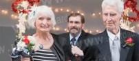 پیرترین عروس و داماد دنیا در آمریکا + عکس