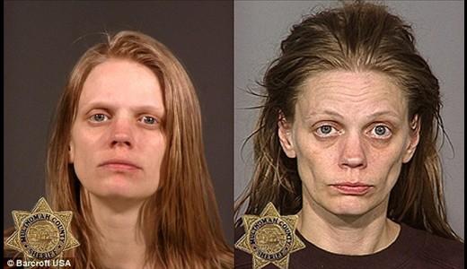 تصاویری از تأثیر مواد مخدر بر چهره معتادان