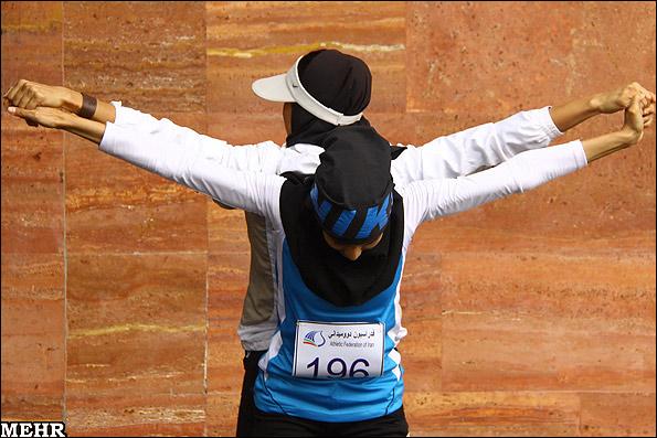عکس هایی جالب از مسابقات دوومیدانی بانوان ایران