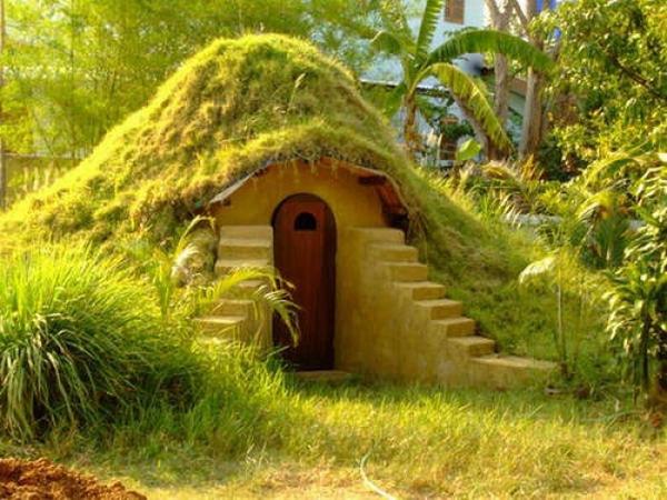 اوج خلاقیت در ساختن جالب کلبه ای زیبا (تصویری)