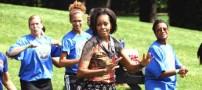 همسر رئیس جمهور آمریکا کجا ورزش می کند؟!