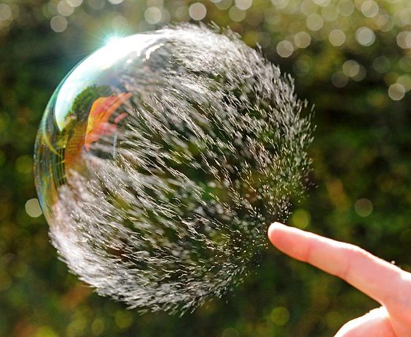 عکس هایی از لحظه ترکیدن حباب