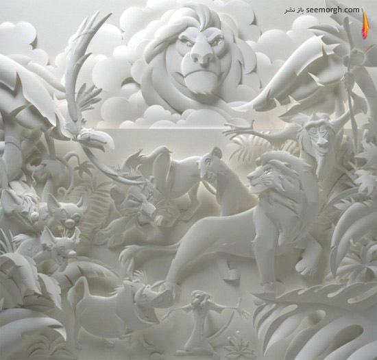 مجسمههای زیبای سه بعدی کاغذی!!