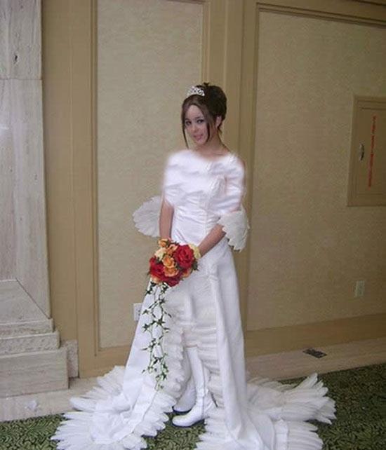 عکس هایی از عجیب ترین لباس عروس های دنیا