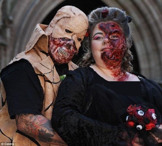 عکس هایی از ترسناک ترین عروسی جهان (18+)