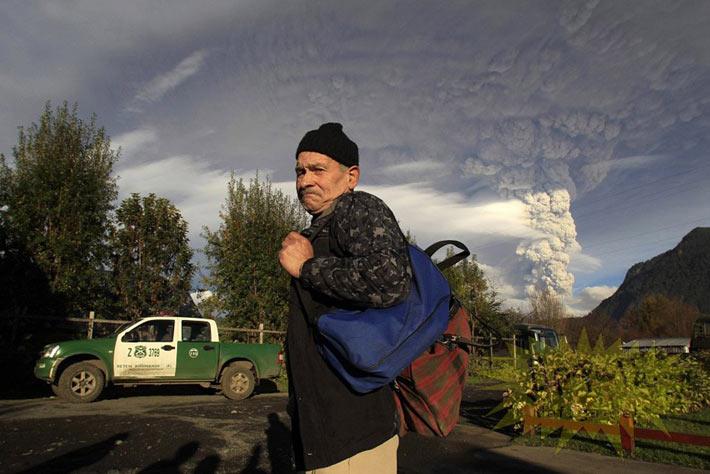 عکس هایی شگفت انگیز از فوران آتشفشان شیلی
